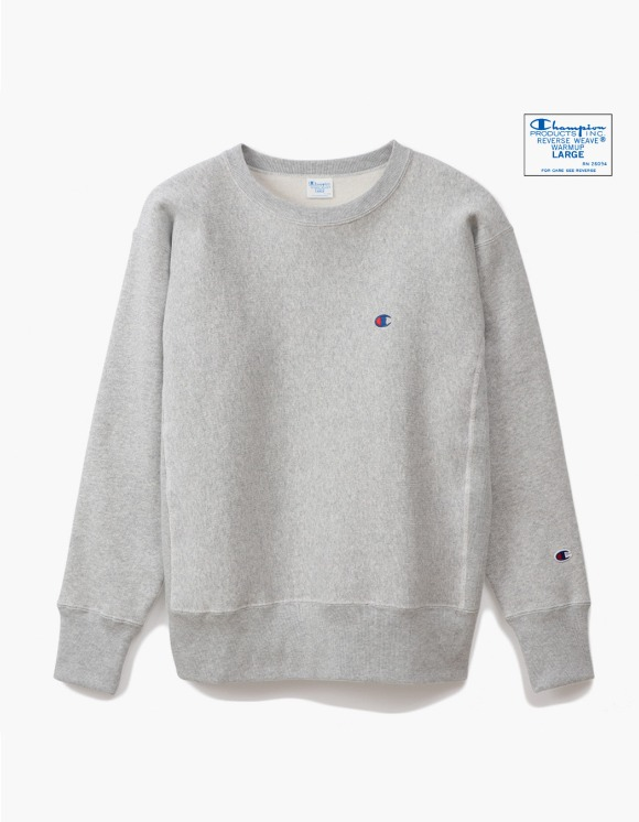 Champion Reverse Weave®11.5OZ Blue Tag Big Silhouette Crewneck - Grey | HEIGHTS. | International Store