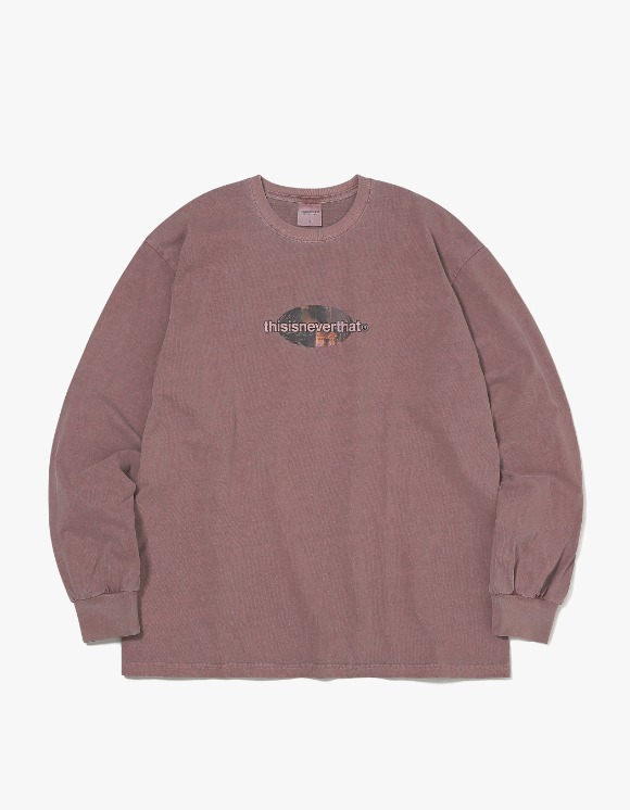 thisisneverthat [3월 26일 예약발송] Overdyed Rocket L/SL Top - Dusty Rose | HEIGHTS. | International Store