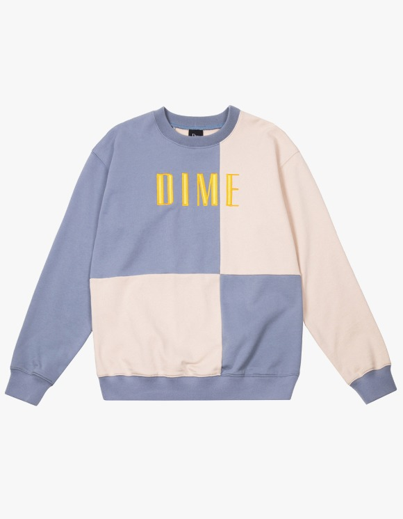 Dime Dime Block Terry Crewneck - Light Blue | HEIGHTS. | International Store