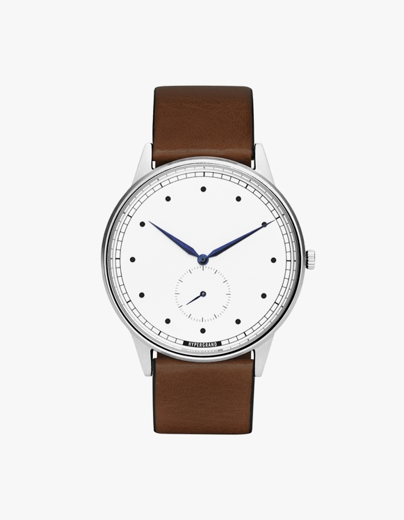 HYPERGRAND Signature Silver White - Brown Leather Classic | HEIGHTS. | International Store
