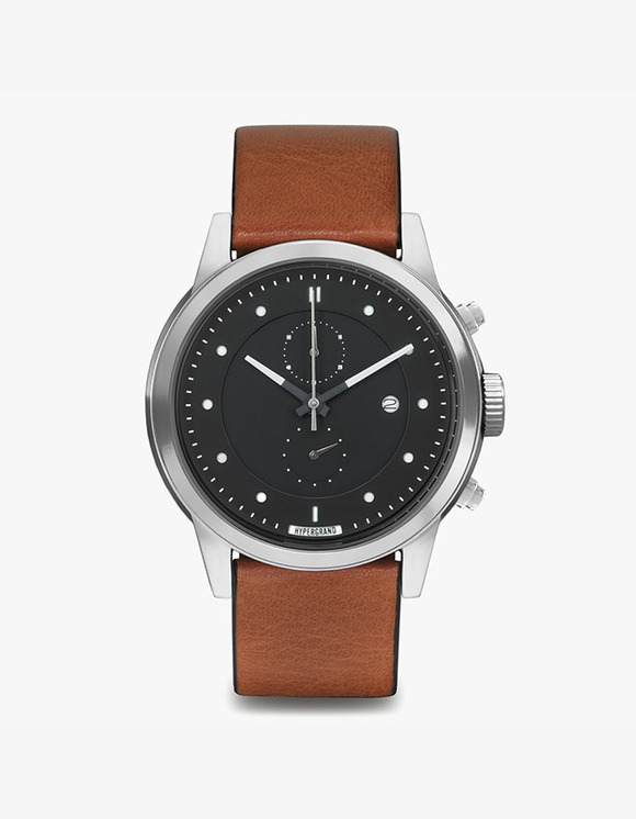 HYPERGRAND Maverick Chrono - Silver Black Honey Leather Classic | HEIGHTS. | International Store