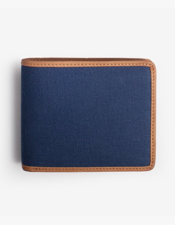 IZOLA NYC Leather-Trimmed Wallets - Navy | HEIGHTS. | International Store