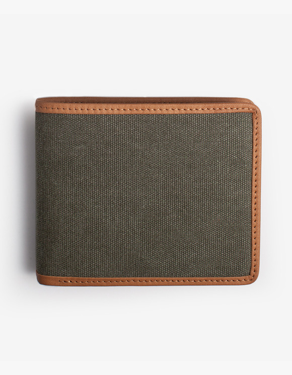 IZOLA NYC Leather-Trimmed Wallets - Olive | HEIGHTS. | International Store
