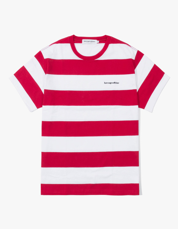 have a good time Stripe S/S Tee - Red | HEIGHTS. | International Store