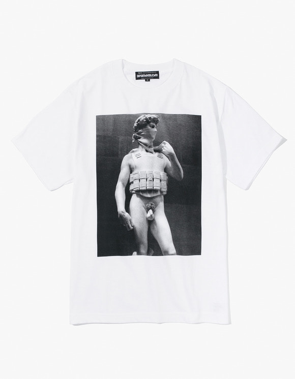Brandalism Brandalism Tee Suicide Man - White | HEIGHTS. | International Store
