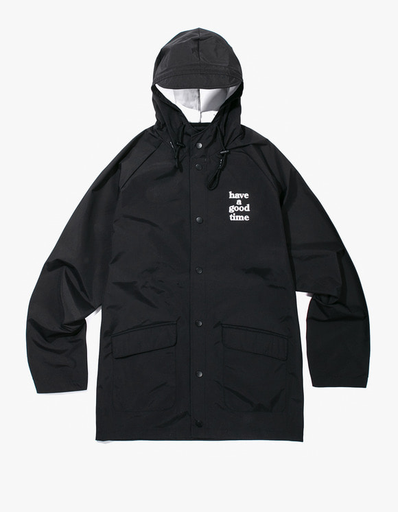 have a good time Logo Rain Jacket - Black | HEIGHTS. | International Store
