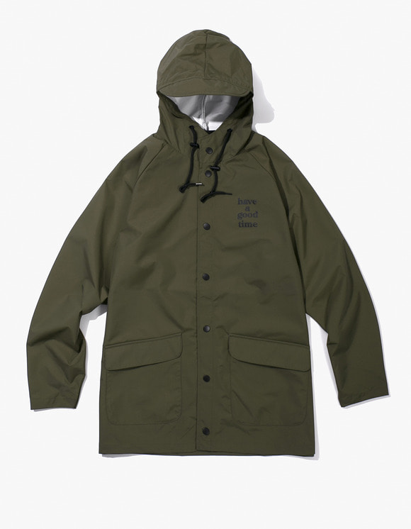have a good time Logo Rain Jacket - Olive | HEIGHTS. | International Store