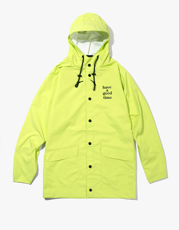 have a good time Logo Rain Jacket - Lime | HEIGHTS. | International Store