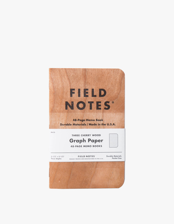 Field Notes Three Cherry Wood - Graph Paper | HEIGHTS. | International Store