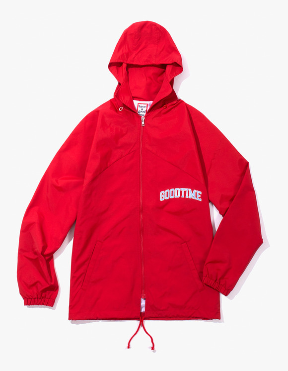 have a good time College Zip-up Jacket - Red | HEIGHTS. | International Store