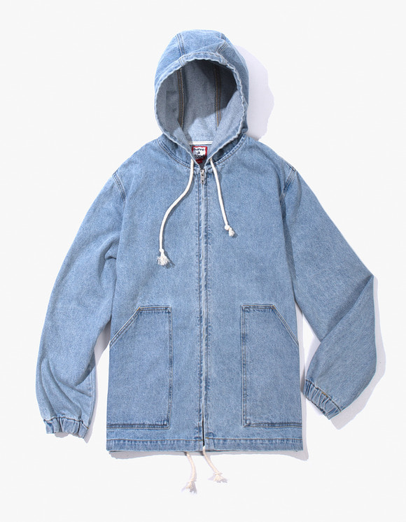 have a good time Zip-up Poncho Jacket - Light Denim | HEIGHTS. | International Store