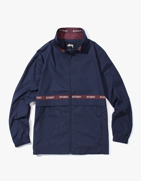 Stussy Lewis Track Jacket - Navy | HEIGHTS. | International Store