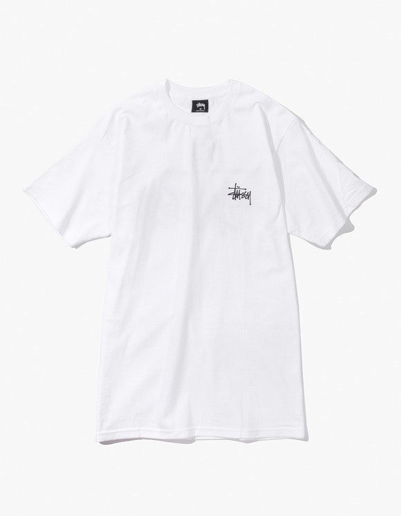 Stussy Basic Stussy Tee - White | HEIGHTS. | International Store