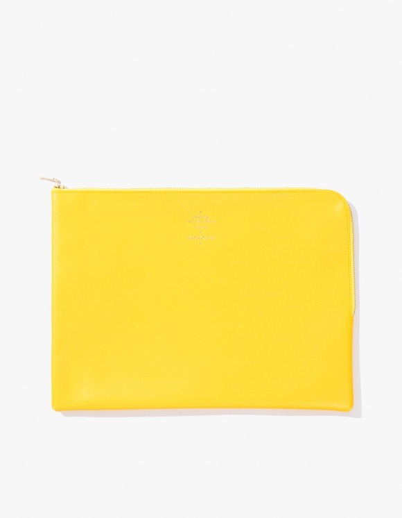 Monocle Delfonics x Monocle Large Zip-Case - Yellow | HEIGHTS. | International Store
