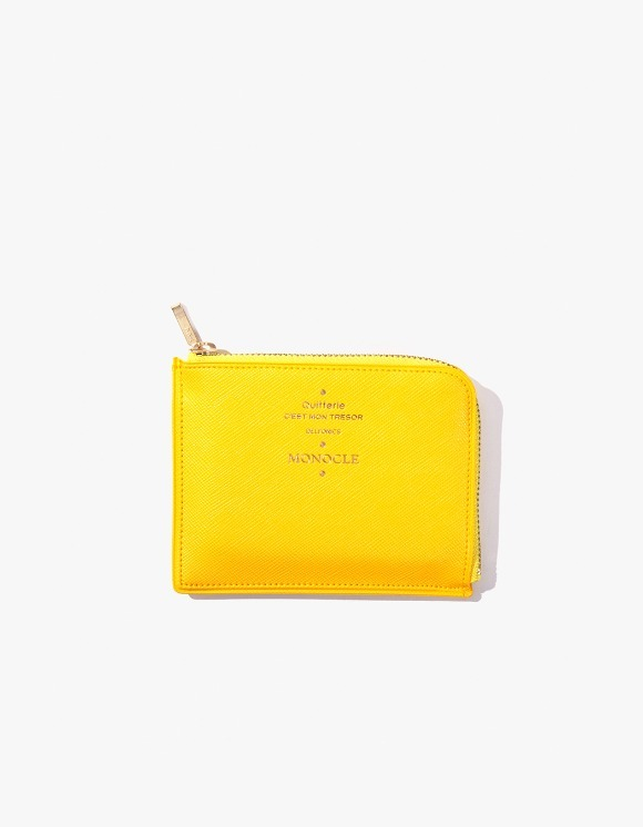 Monocle Delfonics x Monocle Half-Zip Case - Yellow | HEIGHTS. | International Store