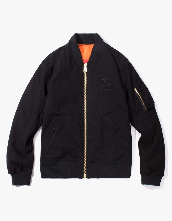 have a good time Apparaitre MA-1 Jacket - Black | HEIGHTS. | International Store