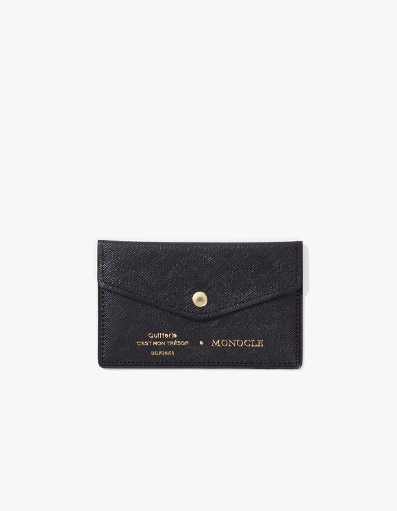 Monocle Delfonics x Monocle Cardholder - Black | HEIGHTS. | International Store