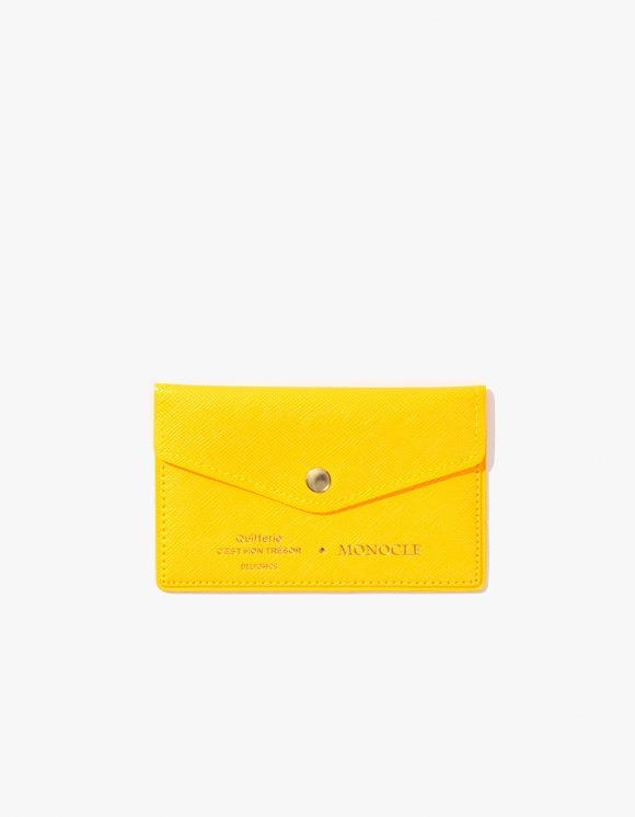 Monocle Delfonics x Monocle Cardholder - Yellow | HEIGHTS. | International Store