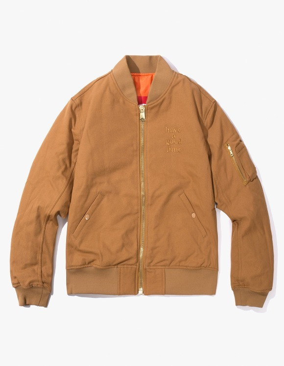 have a good time Apparaitre MA-1 Jacket - Light Brown | HEIGHTS. | International Store