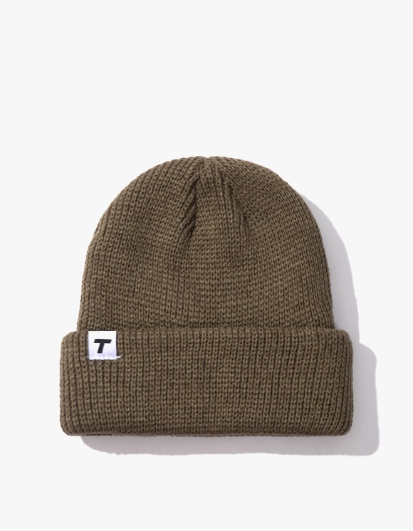 Theobalds Cap Co. Classic cuffed Team Beanie - Khaki | HEIGHTS. | International Store