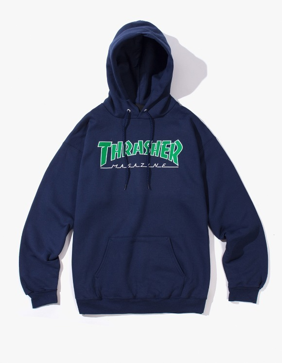 Thrasher Outlined Logo Hood - Navy Blue | HEIGHTS. | International Store