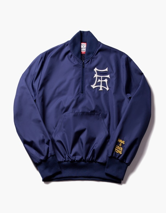 have a good time GT Half Zip-Up Nylon Jacket - Navy | HEIGHTS. | International Store
