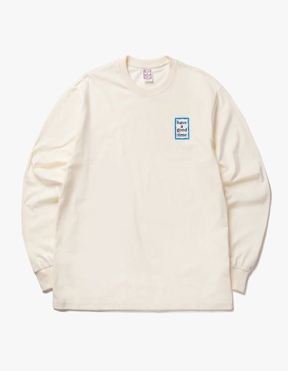 have a good time Blue Mini Frame L/S Tee - Cream | HEIGHTS. | International Store