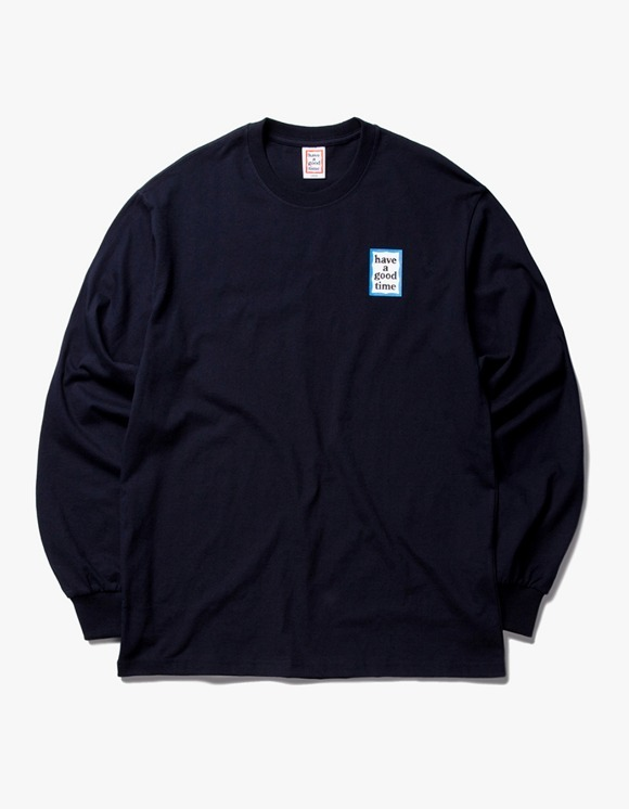 have a good time Blue Mini Frame L/S Tee - Navy | HEIGHTS. | International Store