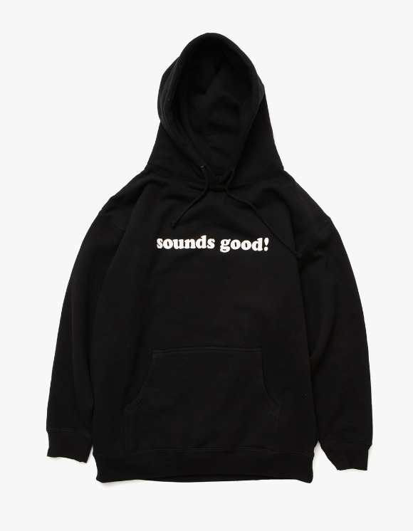 sounds good! Sounds Good Logo Hoodie - Black | HEIGHTS. | International Store