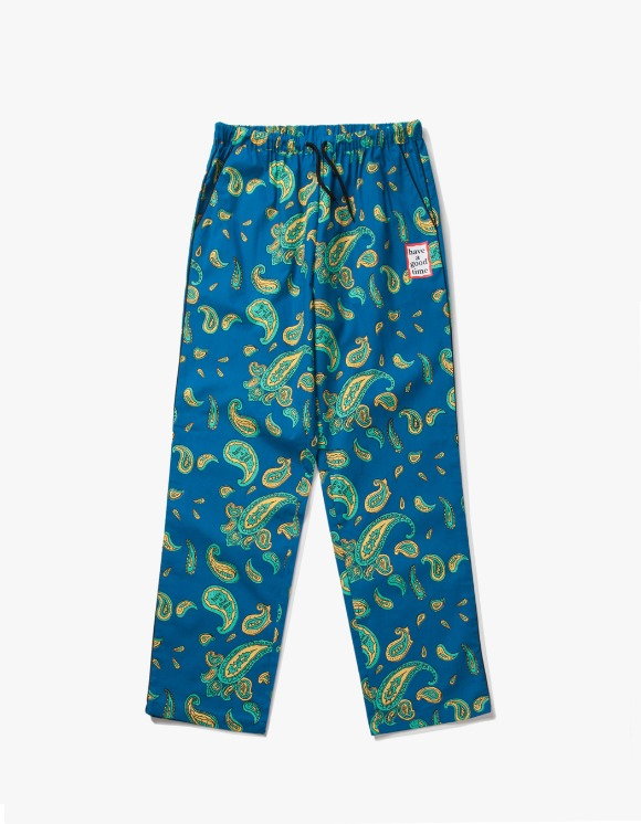 have a good time Paisley Mini Frame Easy Pants - Deep Blue | HEIGHTS. | International Store