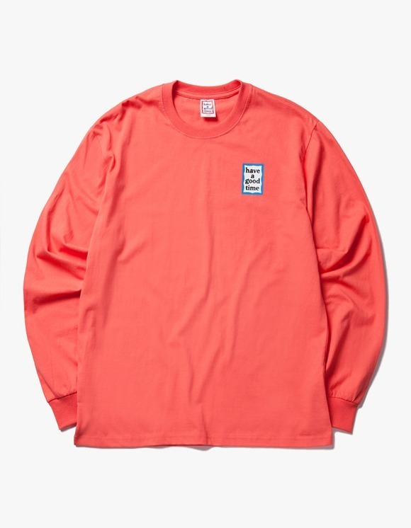 have a good time Blue Mini Frame L/S Tee - Coral | HEIGHTS. | International Store