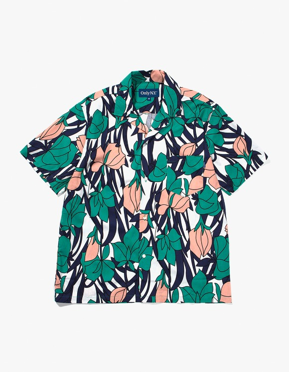 Only NY Tulip Aloha Shirt - Teal | HEIGHTS. | International Store