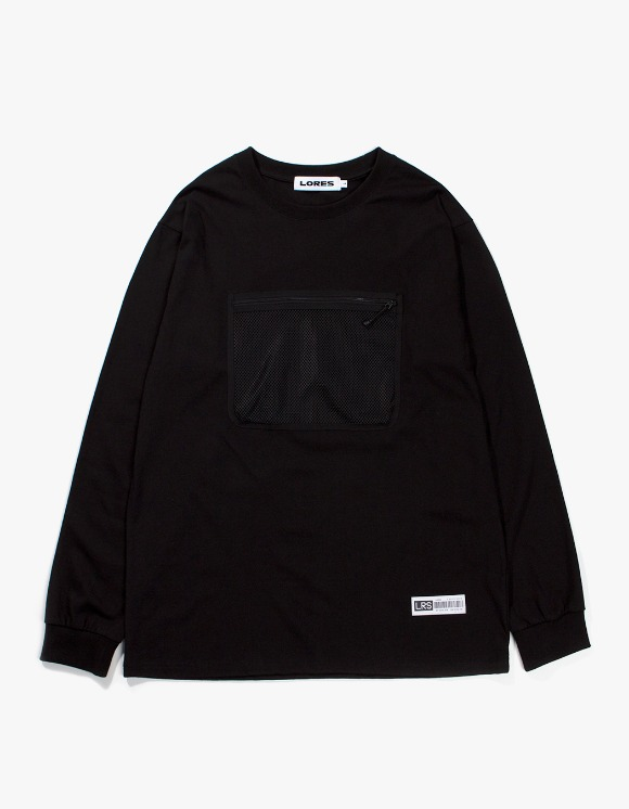 Lores Mesh Pocket L/S T-shirts - Black | HEIGHTS. | International Store