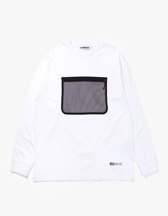 Lores Mesh Pocket L/S T-shirts - White | HEIGHTS. | International Store