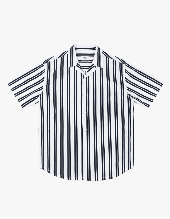 CLIF Summer Stripe Shirt - Navy | HEIGHTS. | International Store