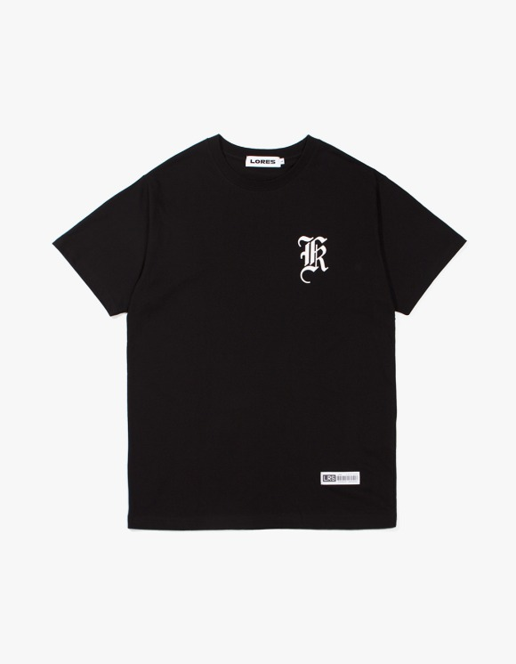Lores Old English Logo T-Shirt - Black | HEIGHTS. | International Store