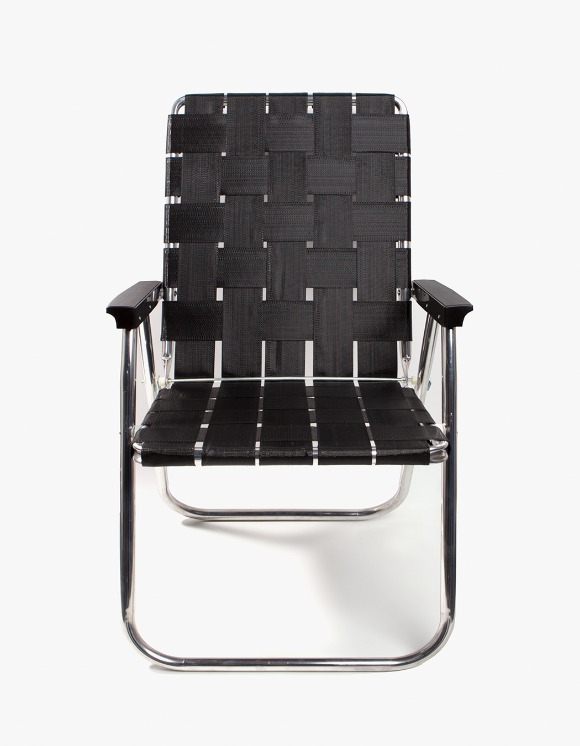 Lawn Chair Deluxe Black wIth Black Arms | HEIGHTS. | International Store