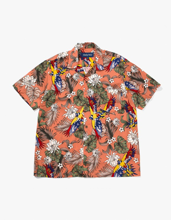 Only NY Parrot Aloha Shirt - Apricot | HEIGHTS. | International Store