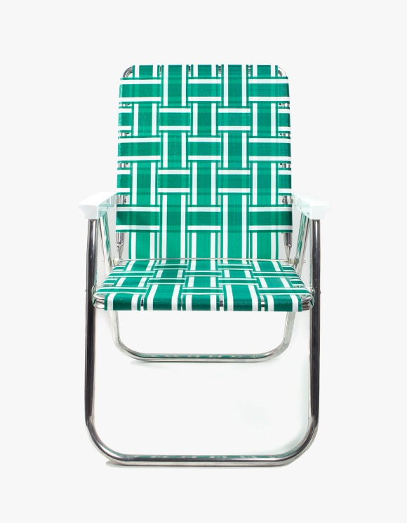 Lawn Chair Deluxe Green and White with White Arms | HEIGHTS. | International Store