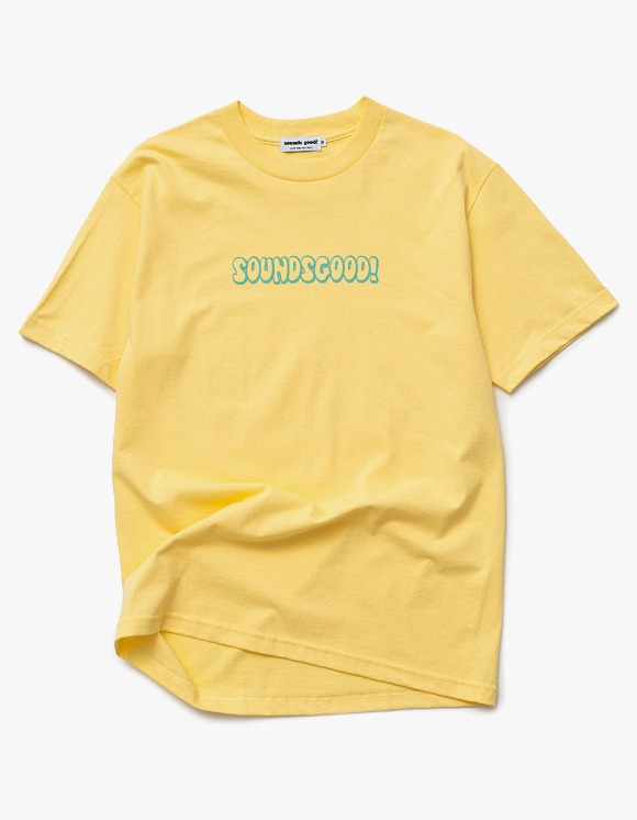 sounds good! SG Bubble Logo Tee - Banana | HEIGHTS. | International Store