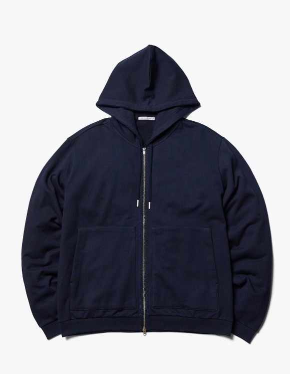 AECA WHITE Finest Cotton Zip-up Hoodie - Navy | HEIGHTS. | International Store