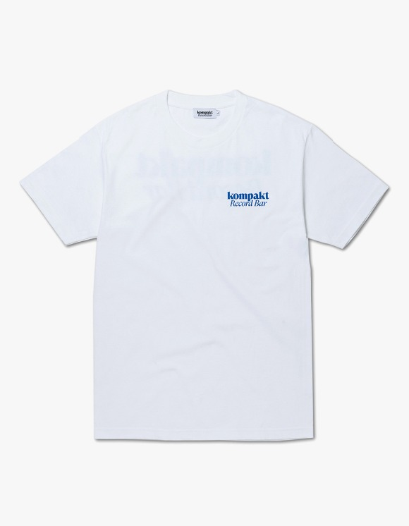 Kompakt Record Bar Now Playing S/S Tee - White/Blue | HEIGHTS. | International Store