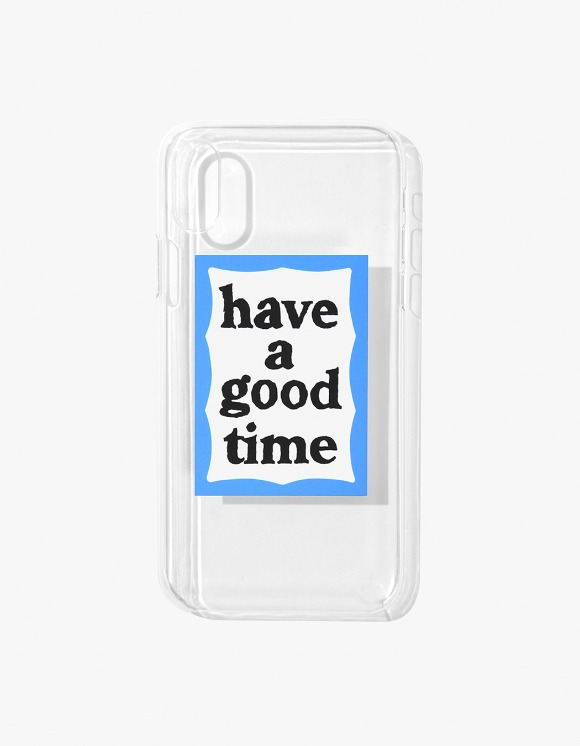 have a good time Blue Frame iPhone Case X/XS - Clear | HEIGHTS. | International Store