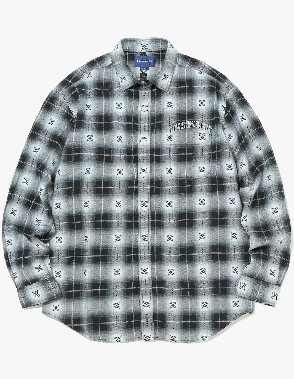 thisisneverthat ARC-Logo African Check Shirt - Black | HEIGHTS. | International Store