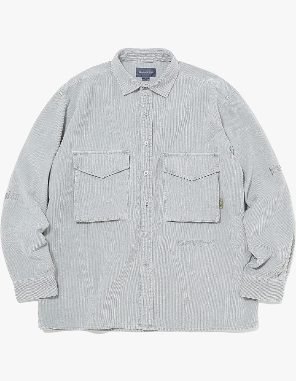 thisisneverthat SP-Logo Corduroy Shirt - Grey | HEIGHTS. | International Store