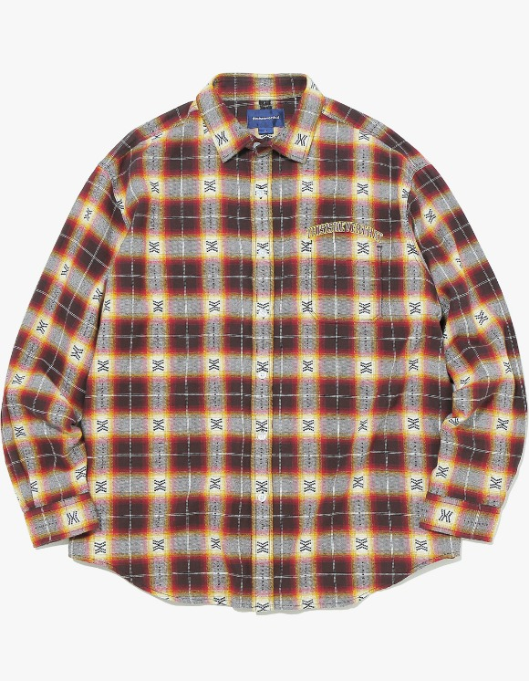 thisisneverthat ARC-Logo African Check Shirt - Red | HEIGHTS. | International Store