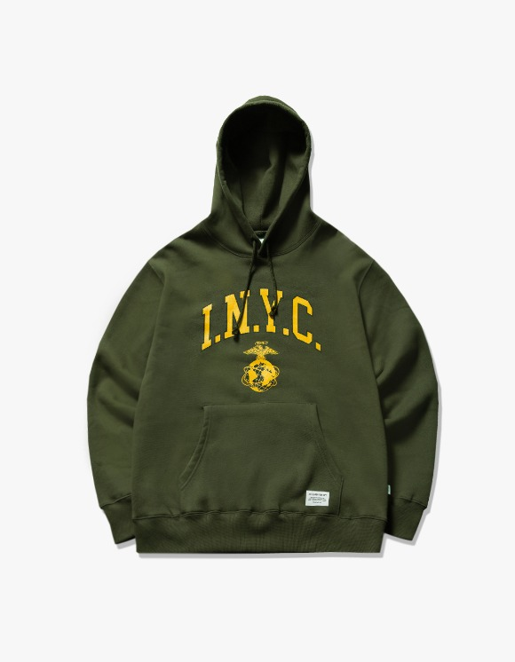 IZOLA NYC I.N.Y.C Logo Hoodie - Olive | HEIGHTS. | International Store