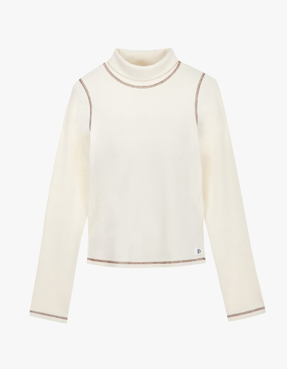 Dessert Basic Stitch Turtleneck - Cream | HEIGHTS. | International Store
