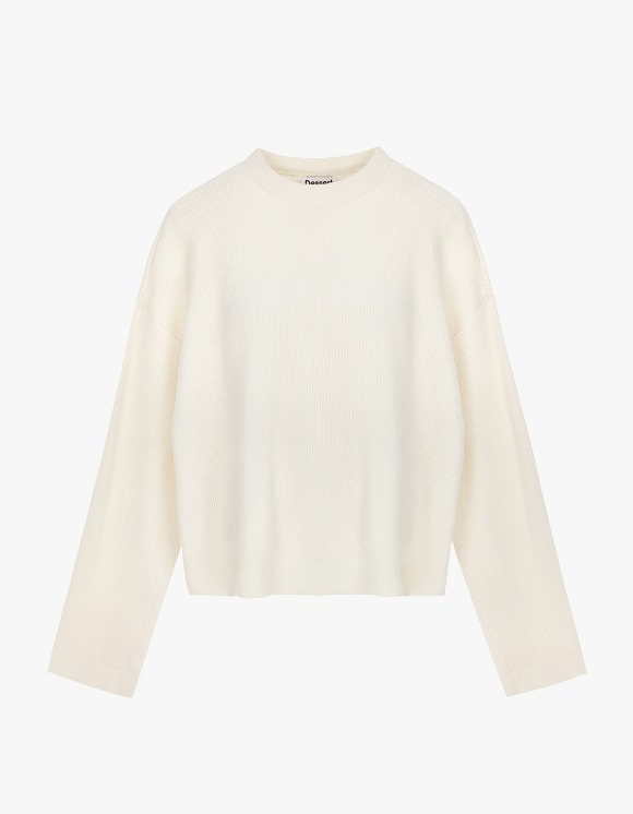 Dessert Round Neck Knit  - Cream | HEIGHTS. | International Store