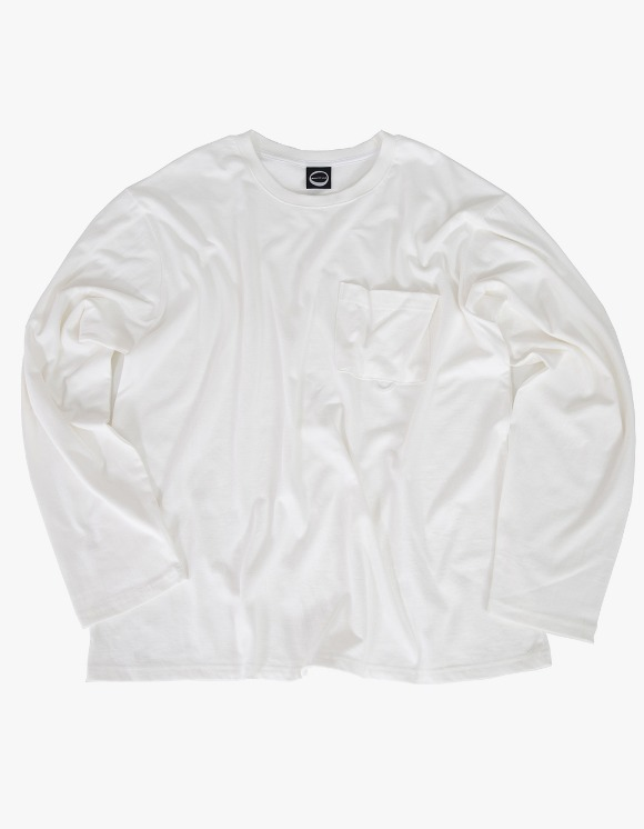 Kruchi lab Pocket Long Sleeve - White | HEIGHTS. | International Store